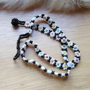 Native seed bead necklace